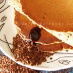 flax seed pancakes with cinnamon flavour