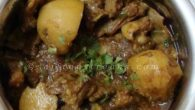 …durga puja special recipes… Navami te kosha mangsho ar phulko luchi Kosha mangsho or goat meat curry aka Bengali style usually meant for an elaborate Sunday meal with colorful family gupshups and it was the scenario in Bengali homes before chicken et.al invaded the Bengali kitchens. Bengalis prefer to add potatoes in kosha mangsho making it more interesting and their present several versions of it . People who love to savour the richness of kosha mangso still swear by Golbari […]