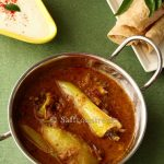 Hyderabadi mirchi ka salan / Curried chillies in a nutty sauce