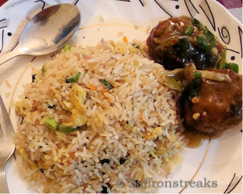 Fried rice and veg manchurian for the desi chinese forumfinder Image collections