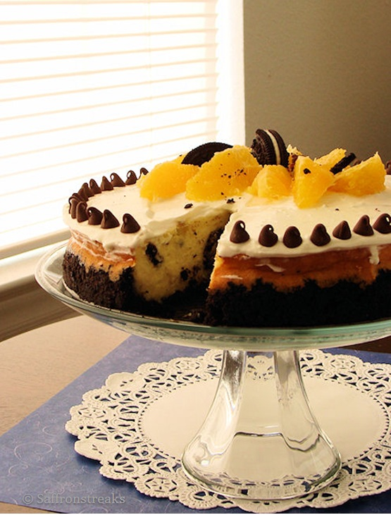 orange oreo cheesecake
