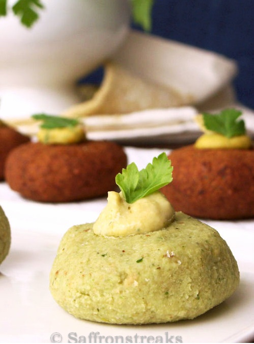 falafel with herbs
