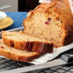 Banana pecan quick bread for a healthy morning breakfast