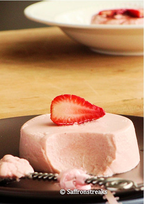 strawberry panna cotta