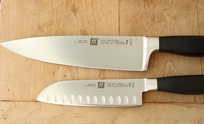 Henckel chef knife and santoku