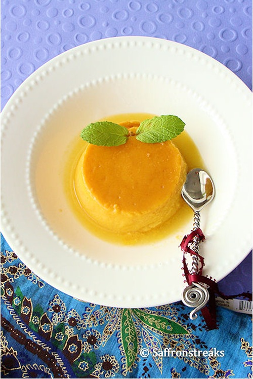 or creme caramel is a popular dessert with mango and coconut cream ...