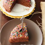 Eggless chocolate cake with basic chocolate frosting