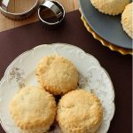 Creamy scones with specks of currants