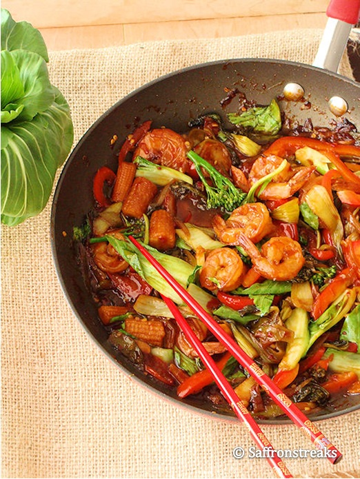 ... shrimp and baby bok -choy stir fry – and I promise you, will serve