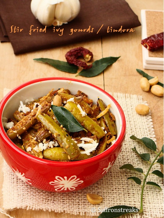 tindora / ivy gourd stir fry