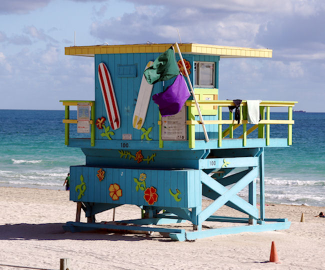 Miami art dcor lifeguard tower