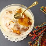 Hyderabadi qubani ka meetha / Indian apricot pudding or fool (e)