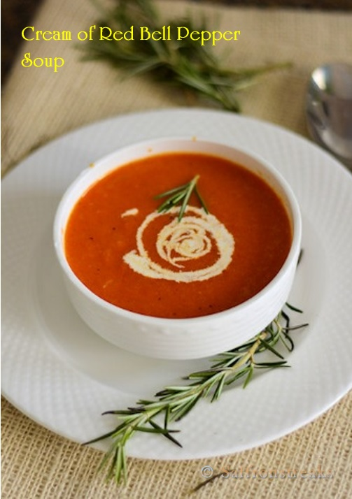 red bell pepper soup