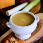 Chili spiked sweet potato and butternut squash soup