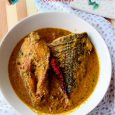 """Today I am going to blog about this – Striped Sea Bass in mild coconut curry, the new fish on my chopping block. Sea Bass seems to be very popular, most loved and favoured fishamong the sea food lovers. But to us (read Bongs, few Bengalis don't like this term) any fish that can not adapt well to the waterscondiments of Kolkata can not survive on a Bengali fish platter. It has to first pass through the """"Mustard Test"""". So, […]"""